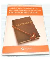 Krivični zakonik sa najnovijim izmenama i kratkim komentarom