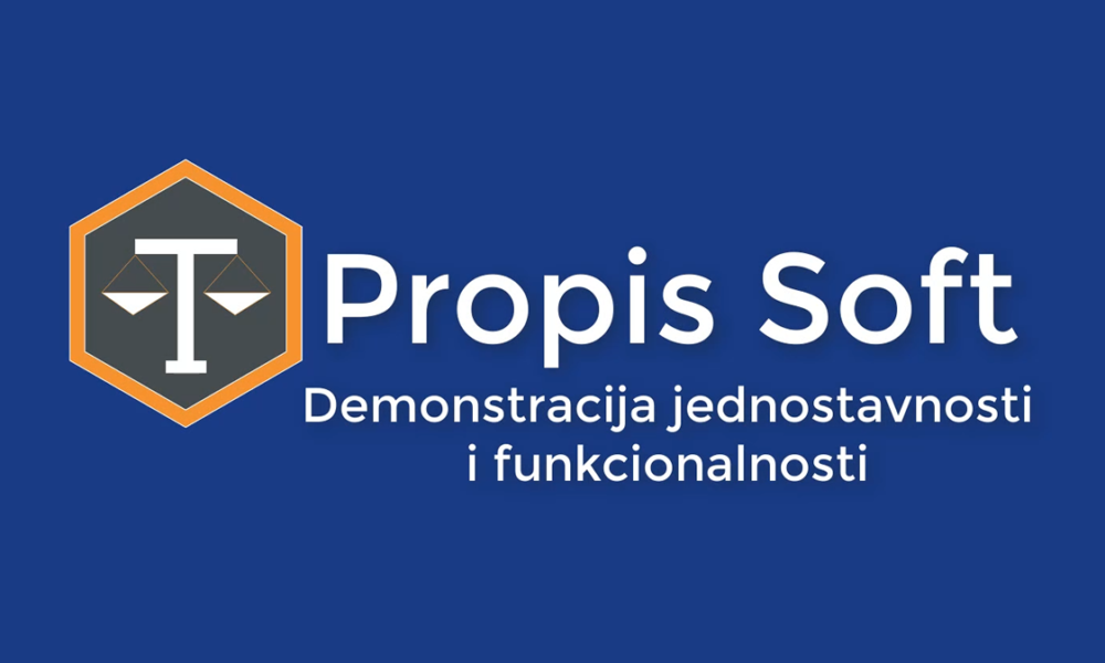 Propis Soft – Video demonstracija jednostavnosti i funkcionalnosti